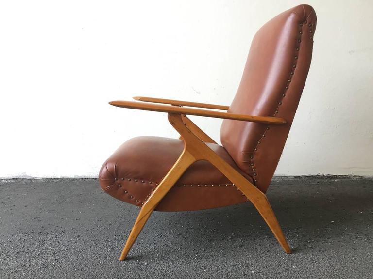 Rare Italian Lounge Chair by Antonio Gorgone For Sale 3
