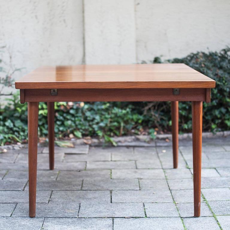 Danish Finn Juhl Extending Dining Table, 1970 For Sale