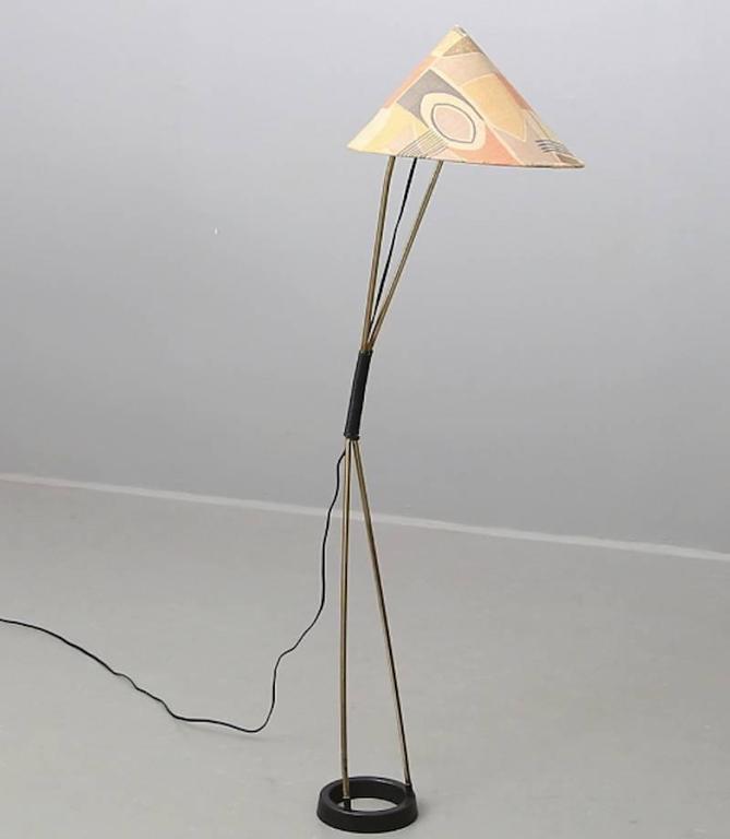 Wonderful Austrian Floor Lamp Attributed to Carl Auböck 2