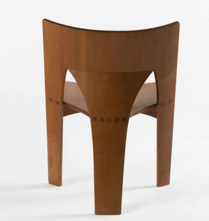 One of Four Prototype Dining Chairs by Nanna Ditzel in Oregon Pine ...