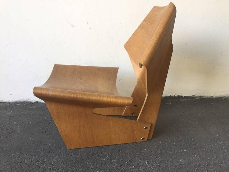 Ultra Rare Laminated Chair By Grete Jalk At 1stdibs