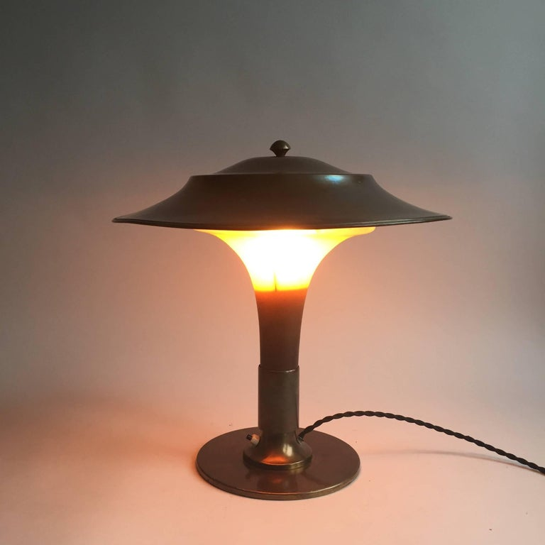 Fakkellampen Fog and Morup Art Deco Table Lamp For Sale 2