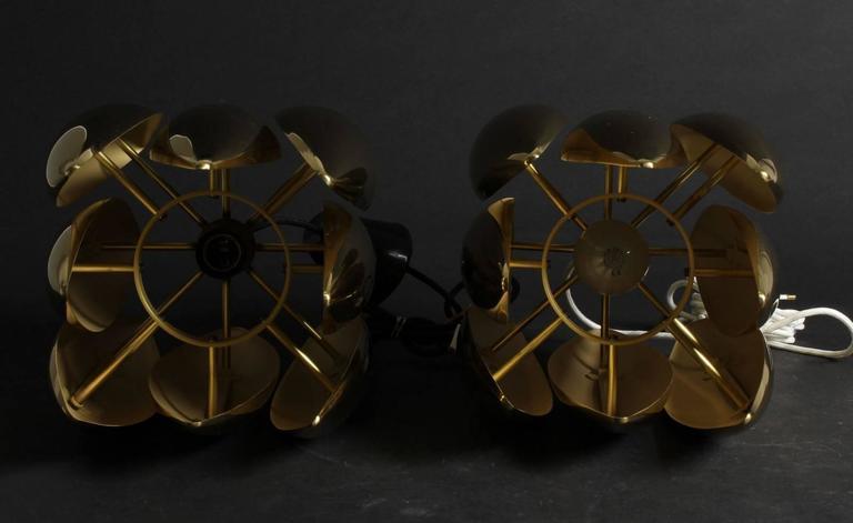 Late 20th Century Pair of Brass Kastor Jo Hammerborg Pendants for Fog and Mørup, 1970 For Sale