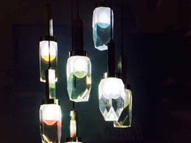 Mid-Century Modern Stilnovo 1960 Hanging Lamp For Sale