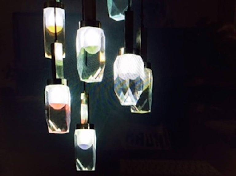 Brass Stilnovo 1960 Hanging Lamp For Sale