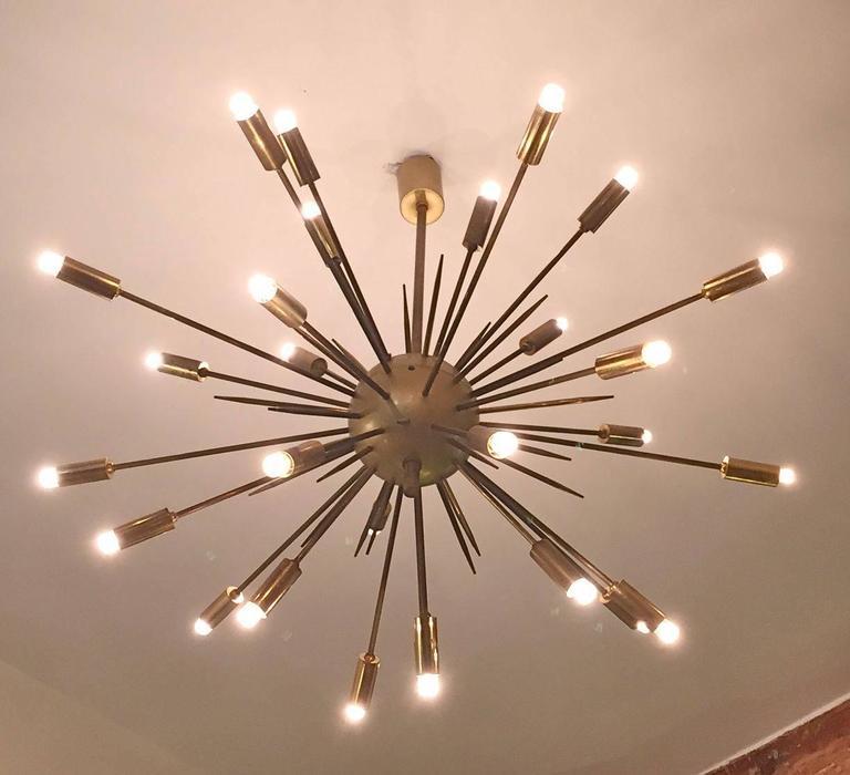 Original stilnovo sputnik chandelier at 1stdibs for Sputnik chandelier