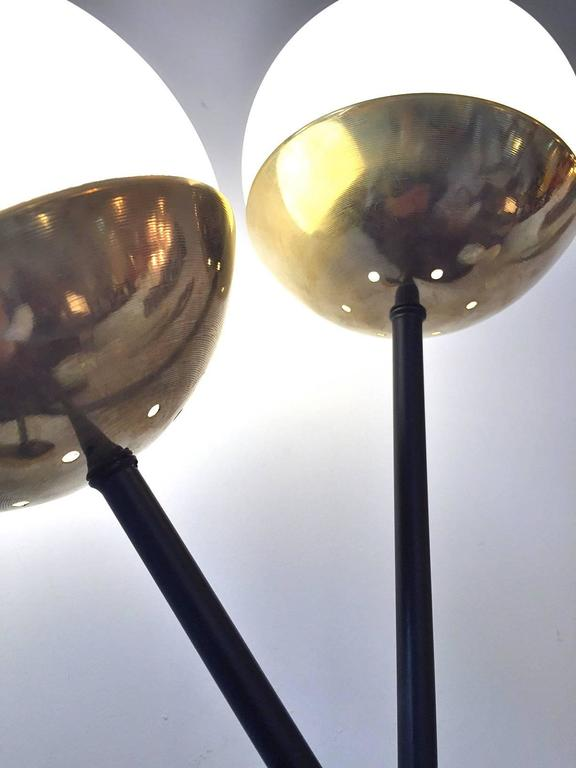 20th Century Pair of Italian  Murano Glass and Brass Sconces For Sale
