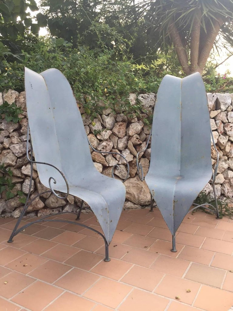 "An exceptional pair of Fabrizio Corneli 1986 ""Leave"" chairs. Collection pieces.