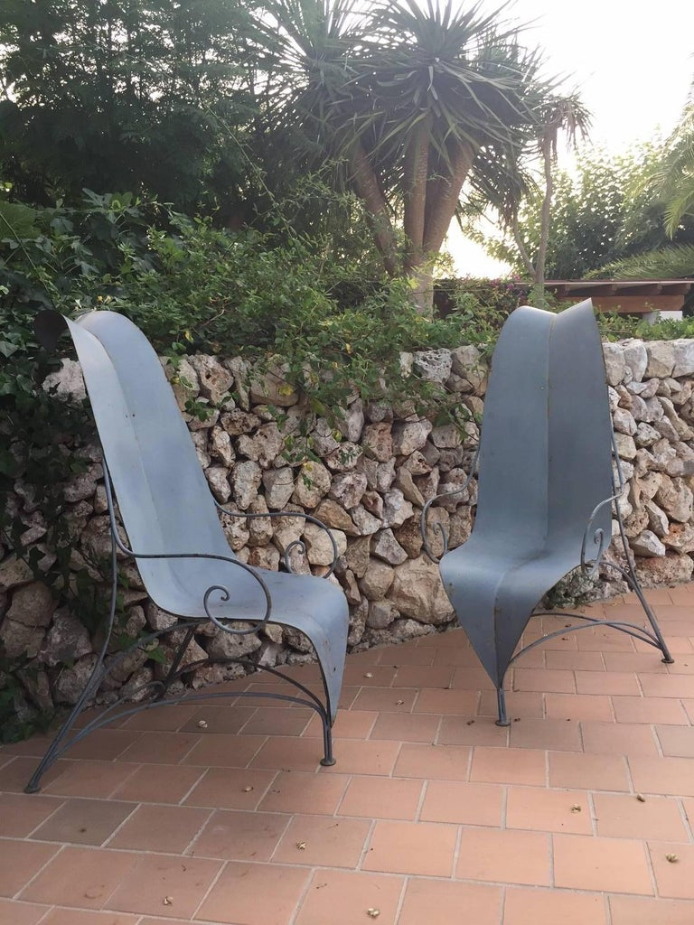 "Pair of Fabrizio Corneli ""Leave"" Chairs, 1986 4"