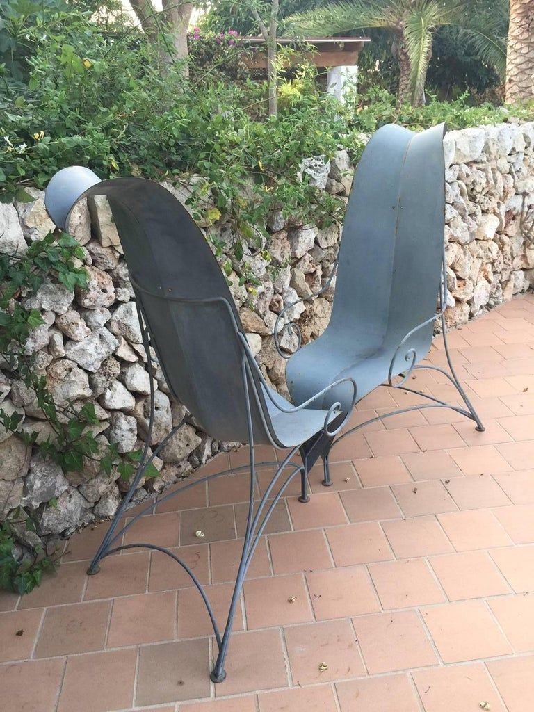 "Pair of Fabrizio Corneli ""Leave"" Chairs, 1986 For Sale 1"