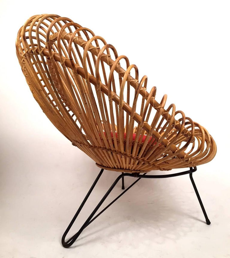 Pair of Janine Abraham and Dirk Jan Rol Basketware Lounge Chairs In Excellent Condition For Sale In Madrid, ES