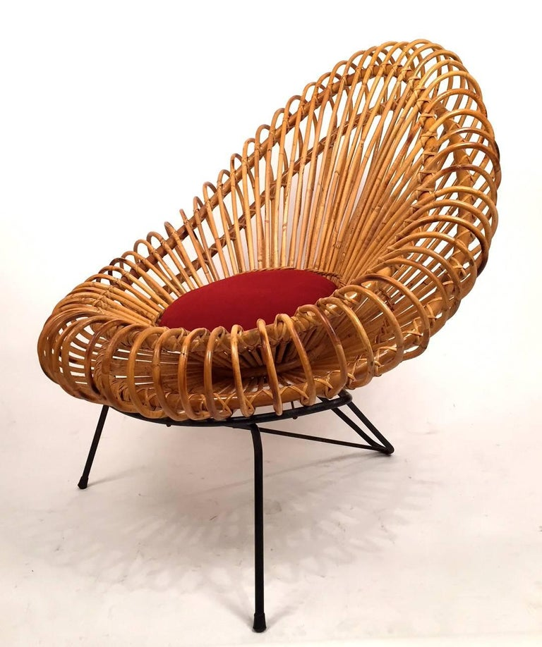 Mid-20th Century Pair of Janine Abraham and Dirk Jan Rol Basketware Lounge Chairs For Sale