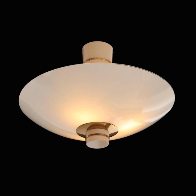 Scandinavian Modern Paavo Tynell Pair of Ceiling Lamps Model 9055 for Taito Oy, 1940 For Sale