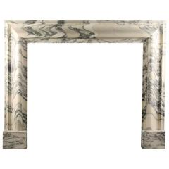 Baroque Bolection Fireplace in Italian Arabescato Marble