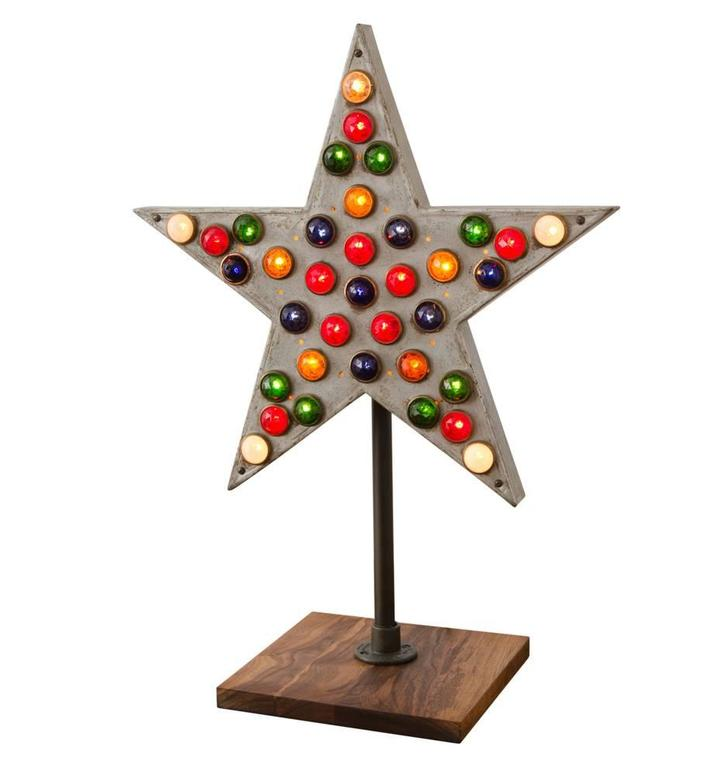 Illuminated Fraternal Order Star with Glass Jewels, circa 1915