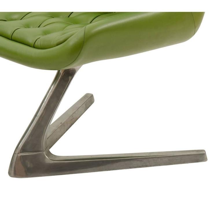 Pair of Mid-Century Avocado Green Chromcraft Chairs, circa 1960s 3