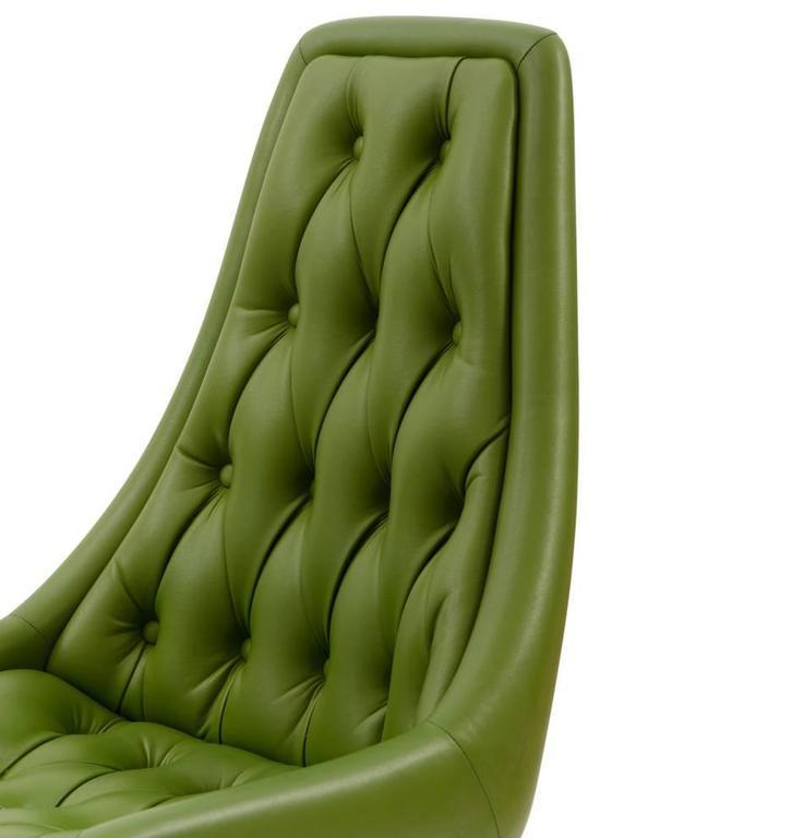 Pair of Mid-Century Avocado Green Chromcraft Chairs, circa 1960s 2