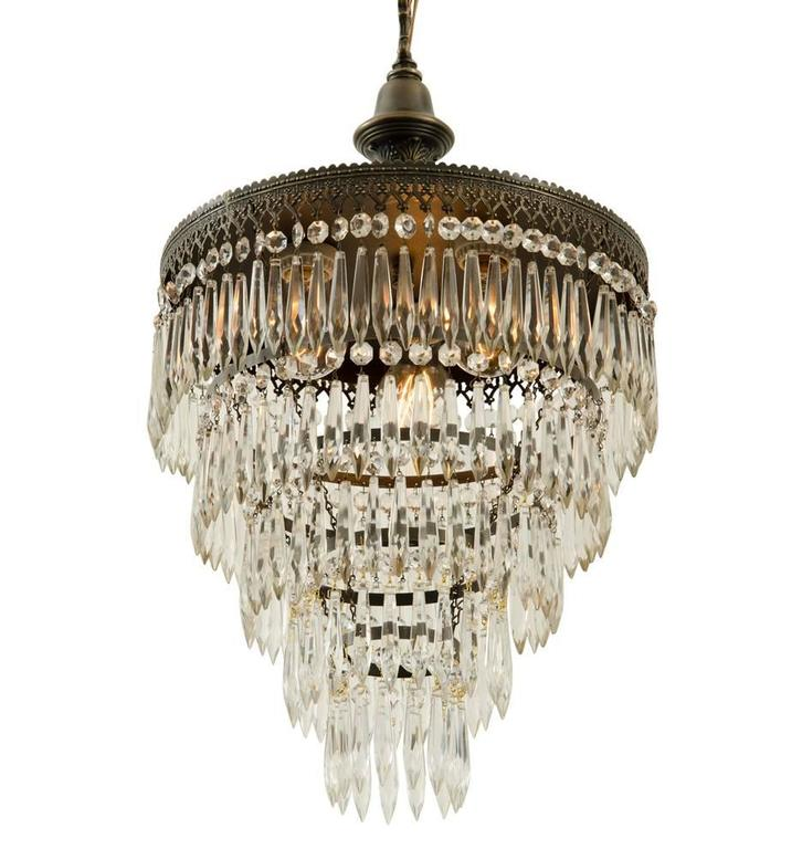 Five Tiered Crystal Chandelier circa 1920 at 1stdibs