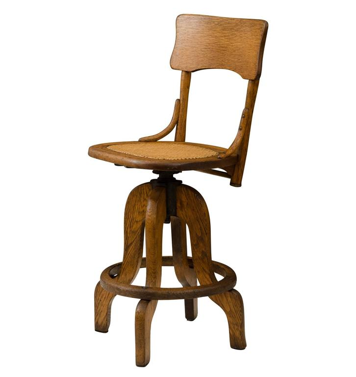 Oak Operators Stool with Caned Seat circa 1925 For Sale  : F6493AF6493l from www.1stdibs.com size 726 x 768 jpeg 28kB