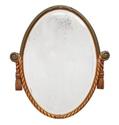 Revival-Style Carved French Mirror with Tassels, circa 1920s