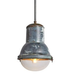 Extra Large Copper Industrial Pendant by Holophane, circa 1930