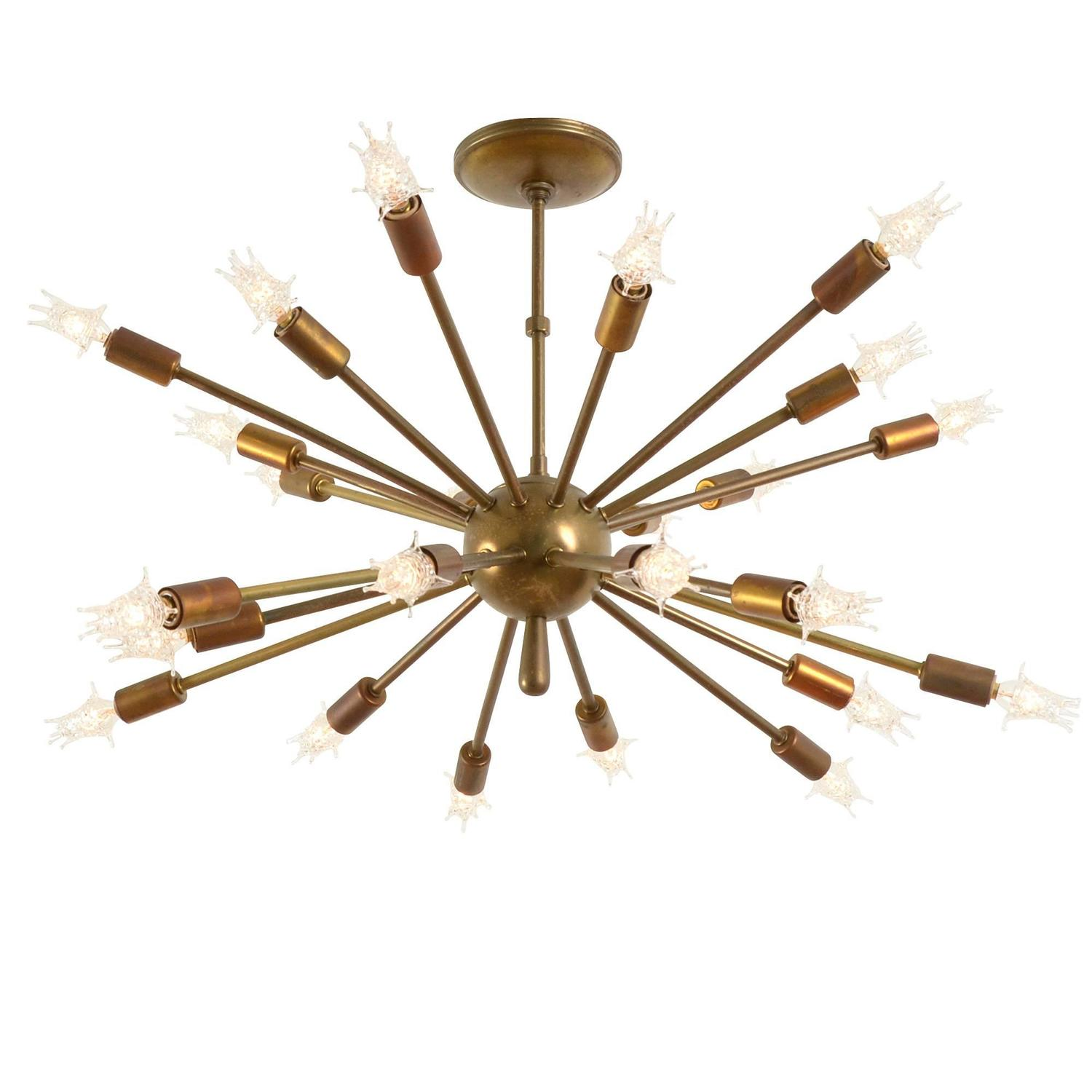 sputnik chandelier 24 arm polished brass sputnik. Black Bedroom Furniture Sets. Home Design Ideas