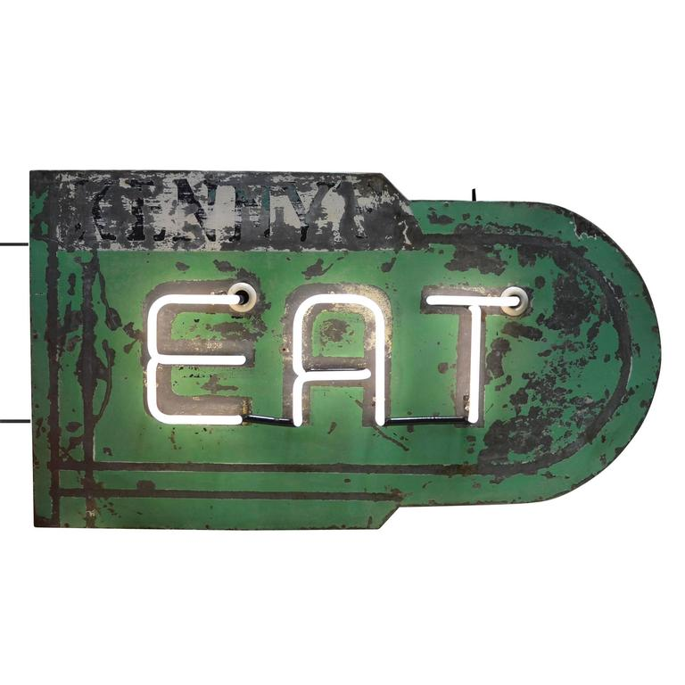 Double-Sided Neon Eat Sign, circa 1930s 2