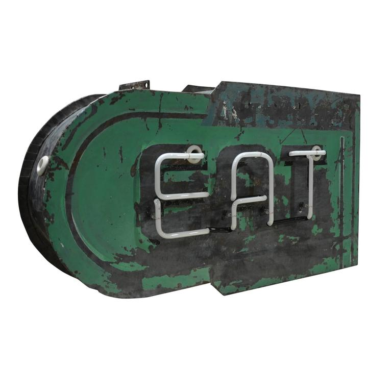 Double-Sided Neon Eat Sign, circa 1930s 6