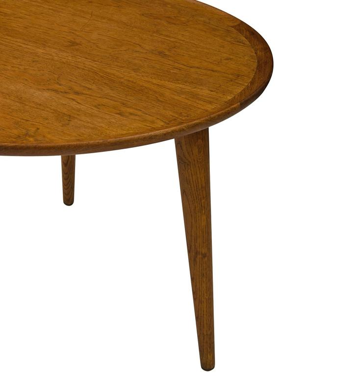 Henry Mid Century Modern Weathered Walnut Round Coffee: Danish Modern Round Walnut Coffee Table, Circa 1960s At