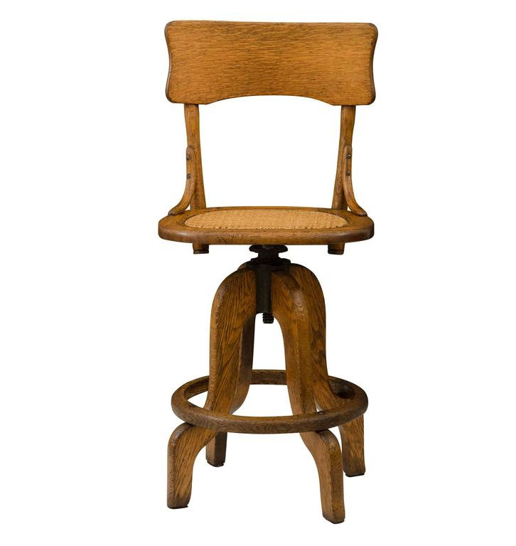 Oak Operators Stool with Caned Seat circa 1925 For Sale  : F6493BF6493l from www.1stdibs.com size 726 x 768 jpeg 28kB