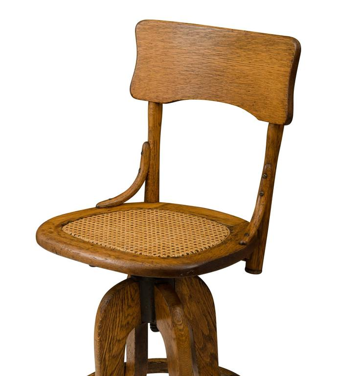 Oak Operators Stool with Caned Seat circa 1925 For Sale  : F6493CF6493l from www.1stdibs.com size 726 x 768 jpeg 43kB