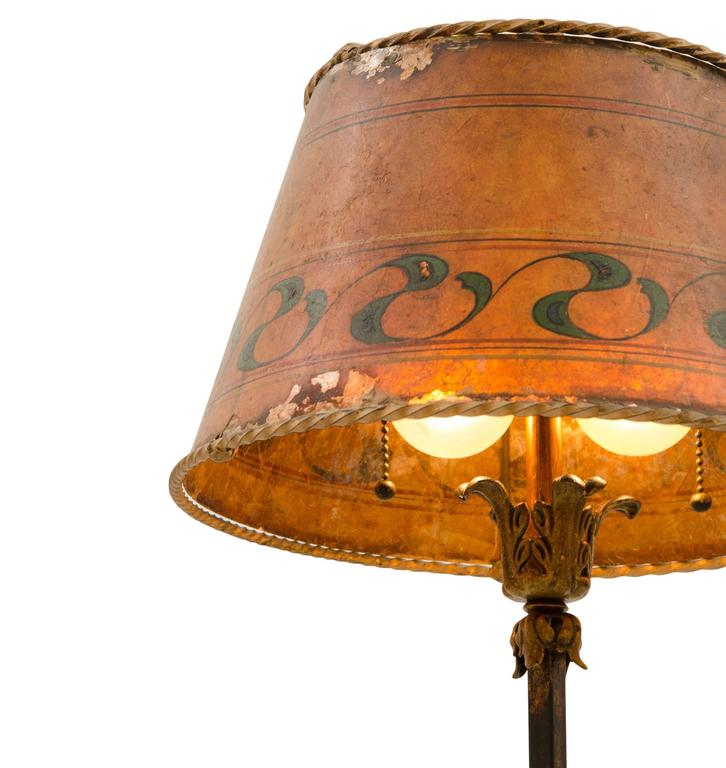 Charming Romance Revival Floor Lamp With Mica Shade Circa 1920s For Sale At 1stdibs