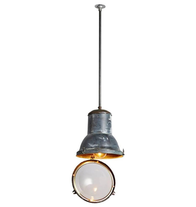 Circa lighting industrial country pendant : Extra large copper industrial pendant by holophane circa