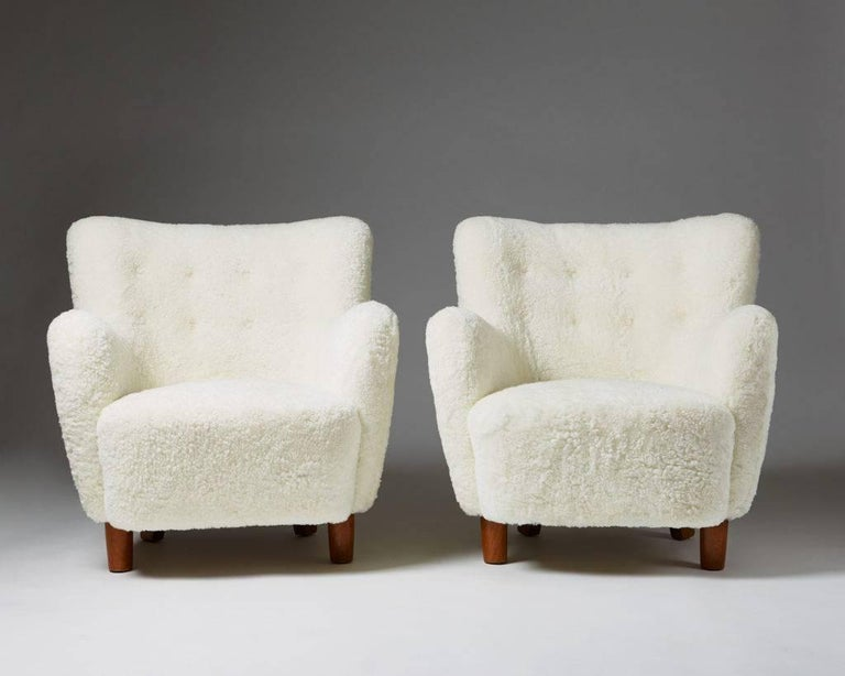 Pair of armchairs, anonymous, 