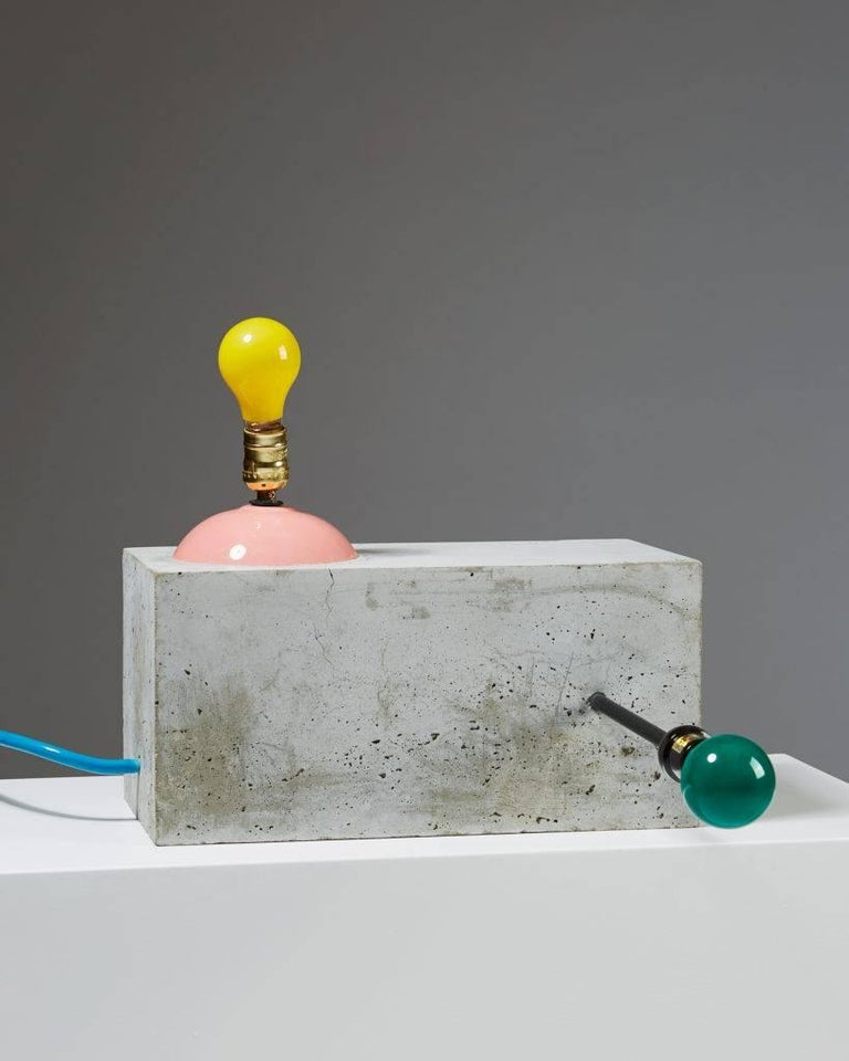 "Lighting sculpture ""Dubtronic"" by Jim Lambie, Scotland, 2005.