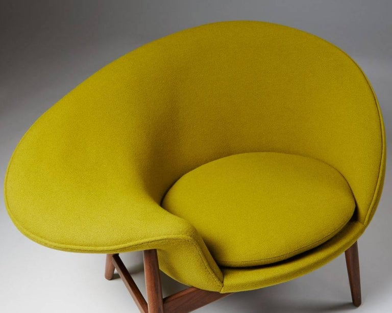 Mid-20th Century Armchair Designed by Hans Olsen for Bramin, Denmark, 1956 For Sale