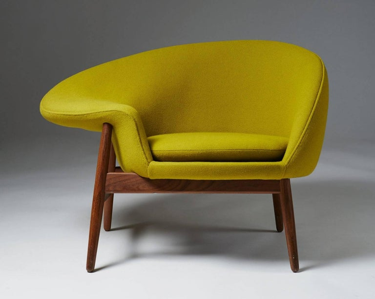 Scandinavian Modern Armchair Designed by Hans Olsen for Bramin, Denmark, 1956 For Sale