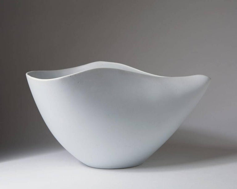 Swedish Bowl Veckla Designed by Stig Lindberg for Gustavsberg, Sweden, 1950s For Sale