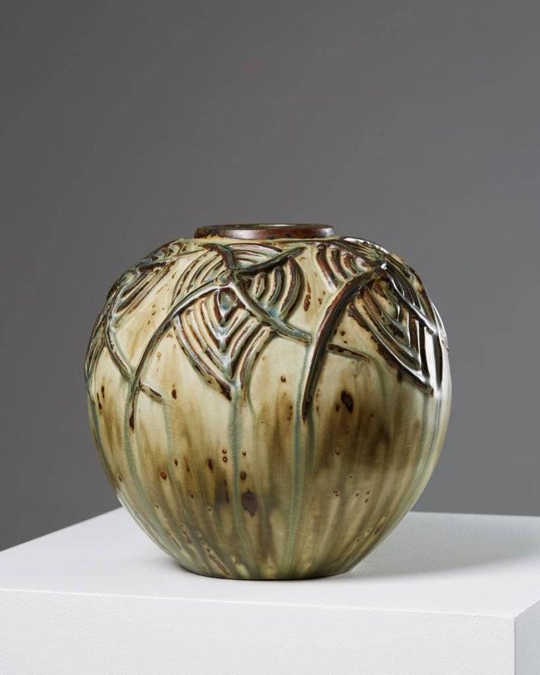 Vase designed by Axel Salto for Royal Copenhagen,  Denmark.  Signed Salto, nr. 20560.  H 22 cm/ 8 5/8