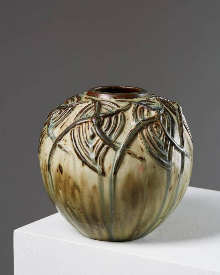Scandinavian Modern Vase Designed by Axel Salto for Royal Copenhagen, Denmark For Sale
