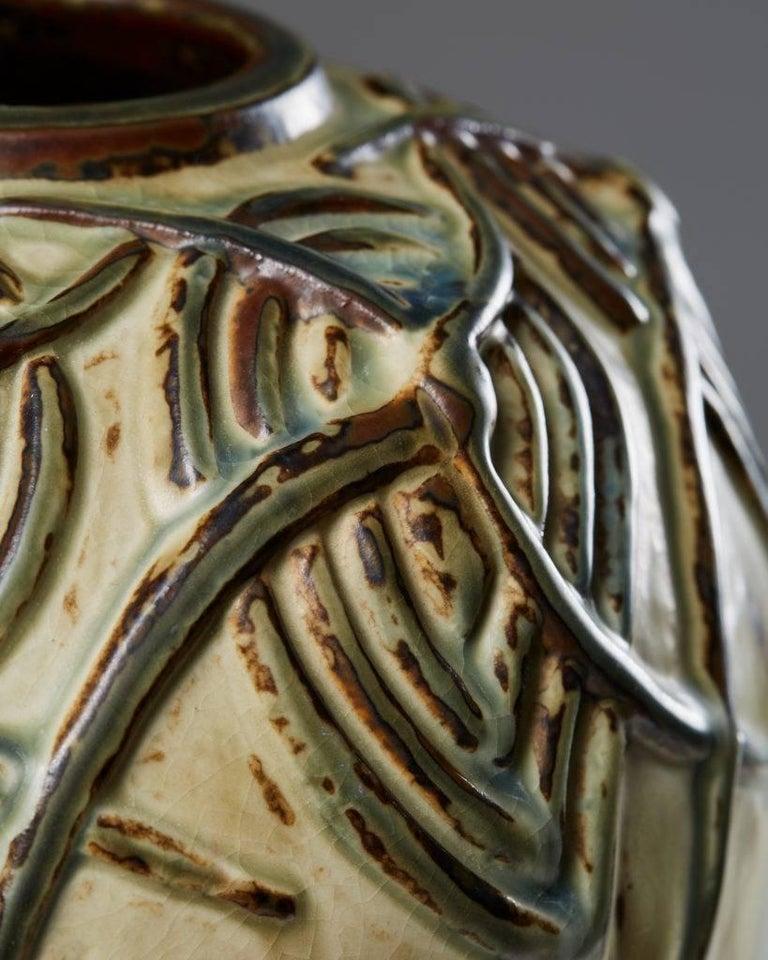 Danish Vase Designed by Axel Salto for Royal Copenhagen, Denmark For Sale