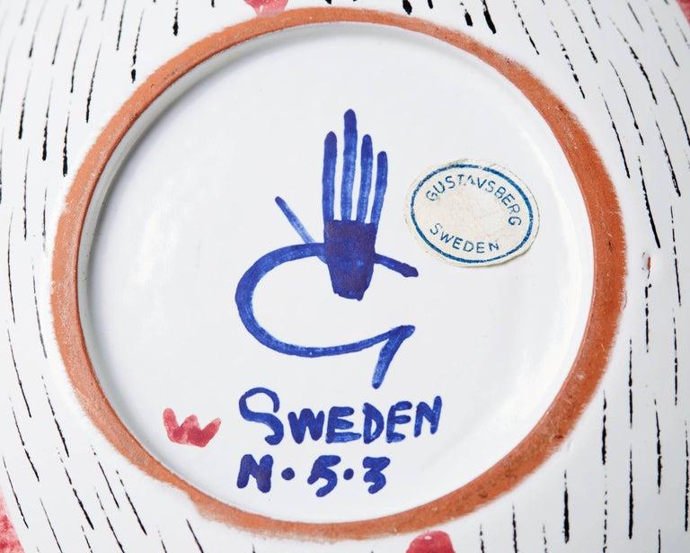 Bowl Designed by Stig Lindberg for Gustavsberg, Sweden, 1950s For Sale 1