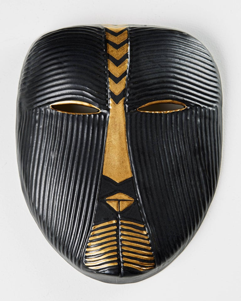 Scandinavian Modern Mask Designed by Lisa Larsson, Sweden, 1950s For Sale