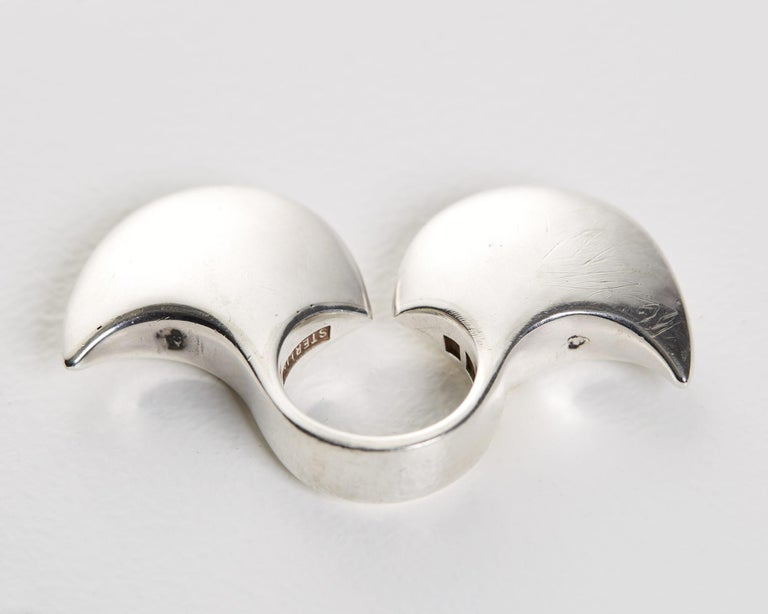 Scandinavian Modern Ring Designed by Ibe Dahlquist and Olov Barve, Sweden, 1977 For Sale