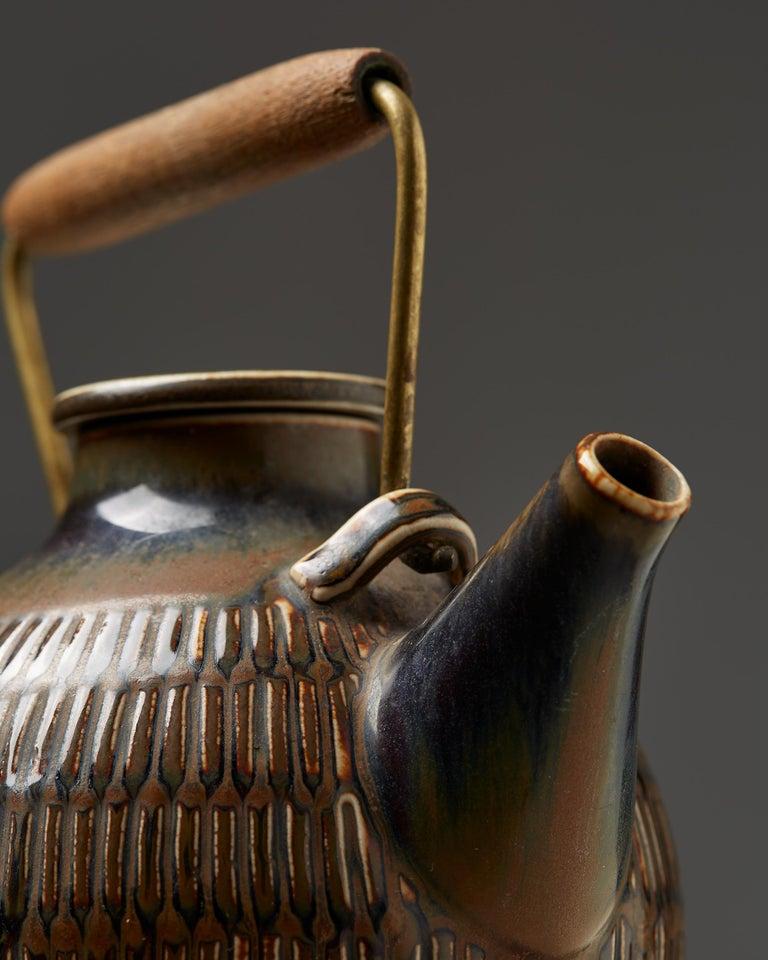 Teapot Designed by Stig Lindberg, Sweden, 1950s In Good Condition For Sale In Stockholm, SE
