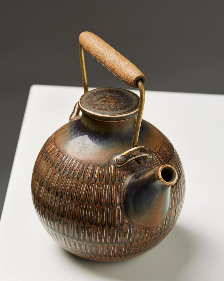 Swedish Teapot Designed by Stig Lindberg, Sweden, 1950s For Sale