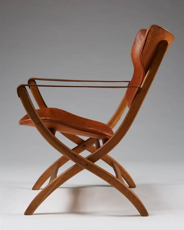 Awesome Folding Armchair U201cEgyptian Chairu201d Designed By Poul Hundevad, Denmark, 1950s  2