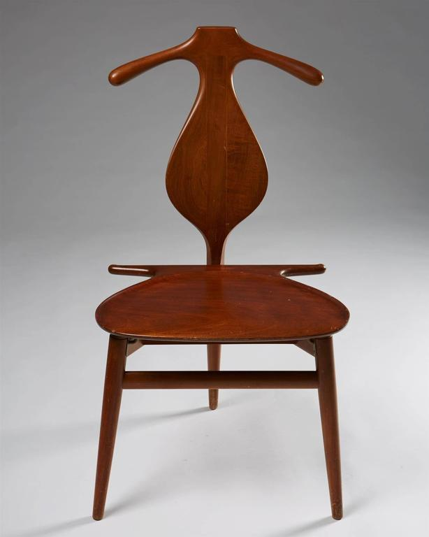 Danish Valet Chair Designed by Hans Wegner for Johannes Hansen, Denmark, 1950s For Sale