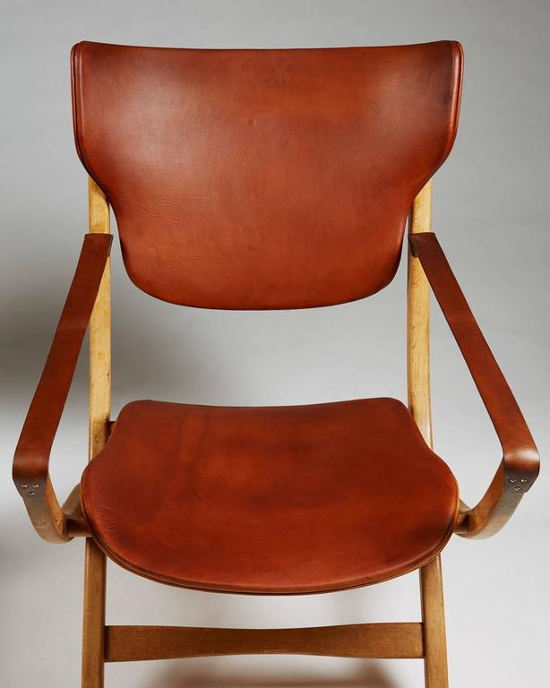 Pair Of Folding Armchair Egyptian Chair Designed By Poul