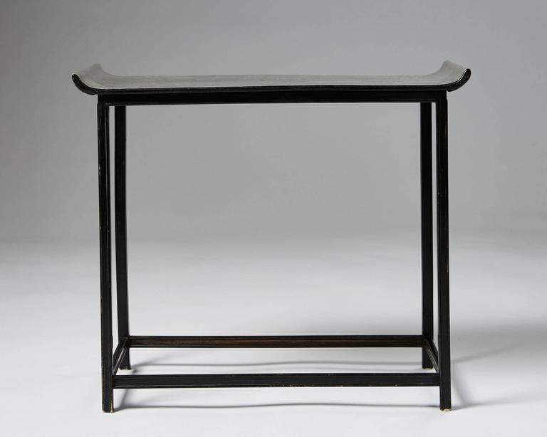 Neoclassical Revival Occasional Table Designed by Nils Fougstedt and Bjorn Tragardh for Svenskt Tenn For Sale